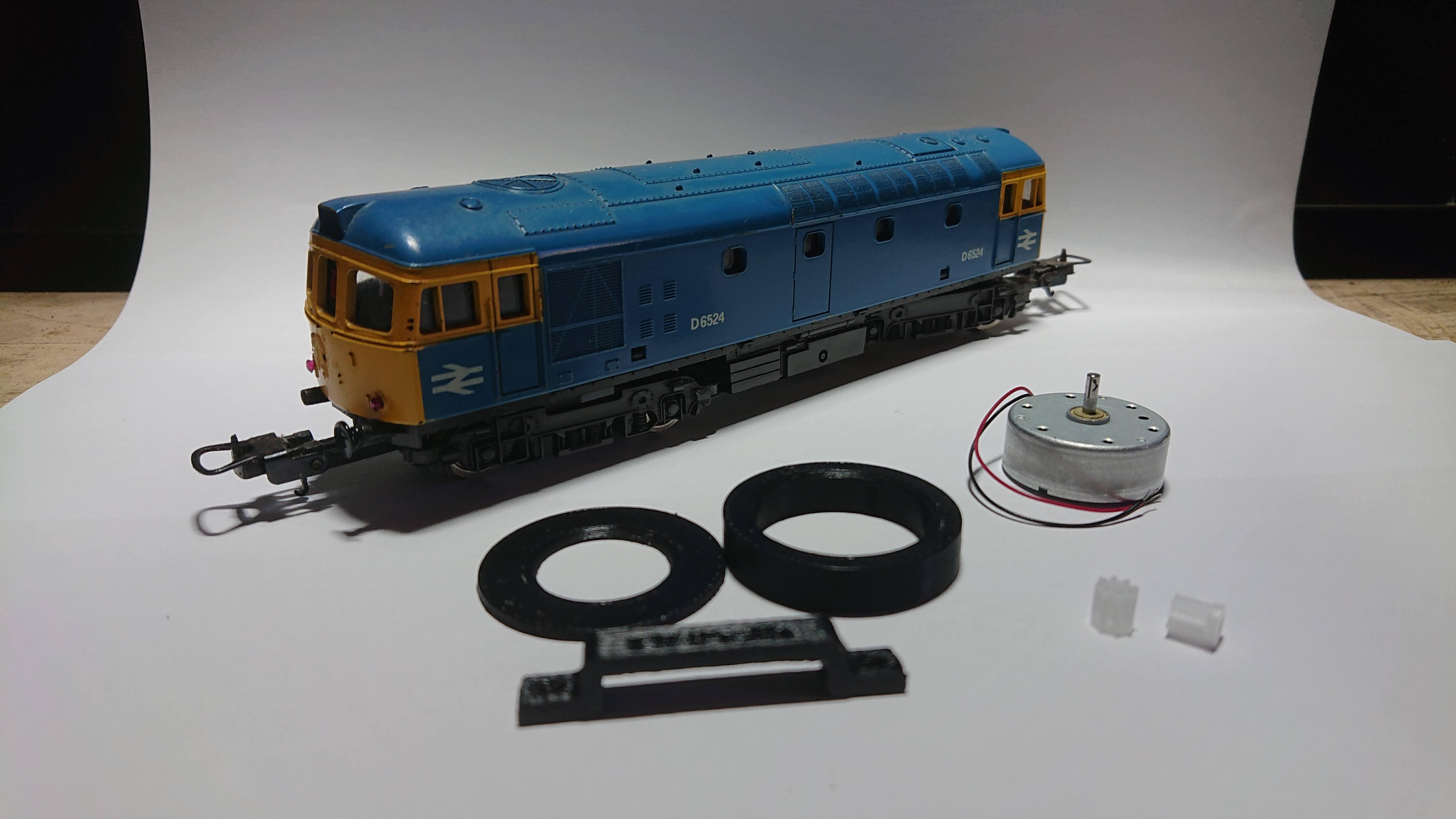 Lima Ringfield Motor Repair / Upgrade Kit. 12V CD motor with adaptor and gears
