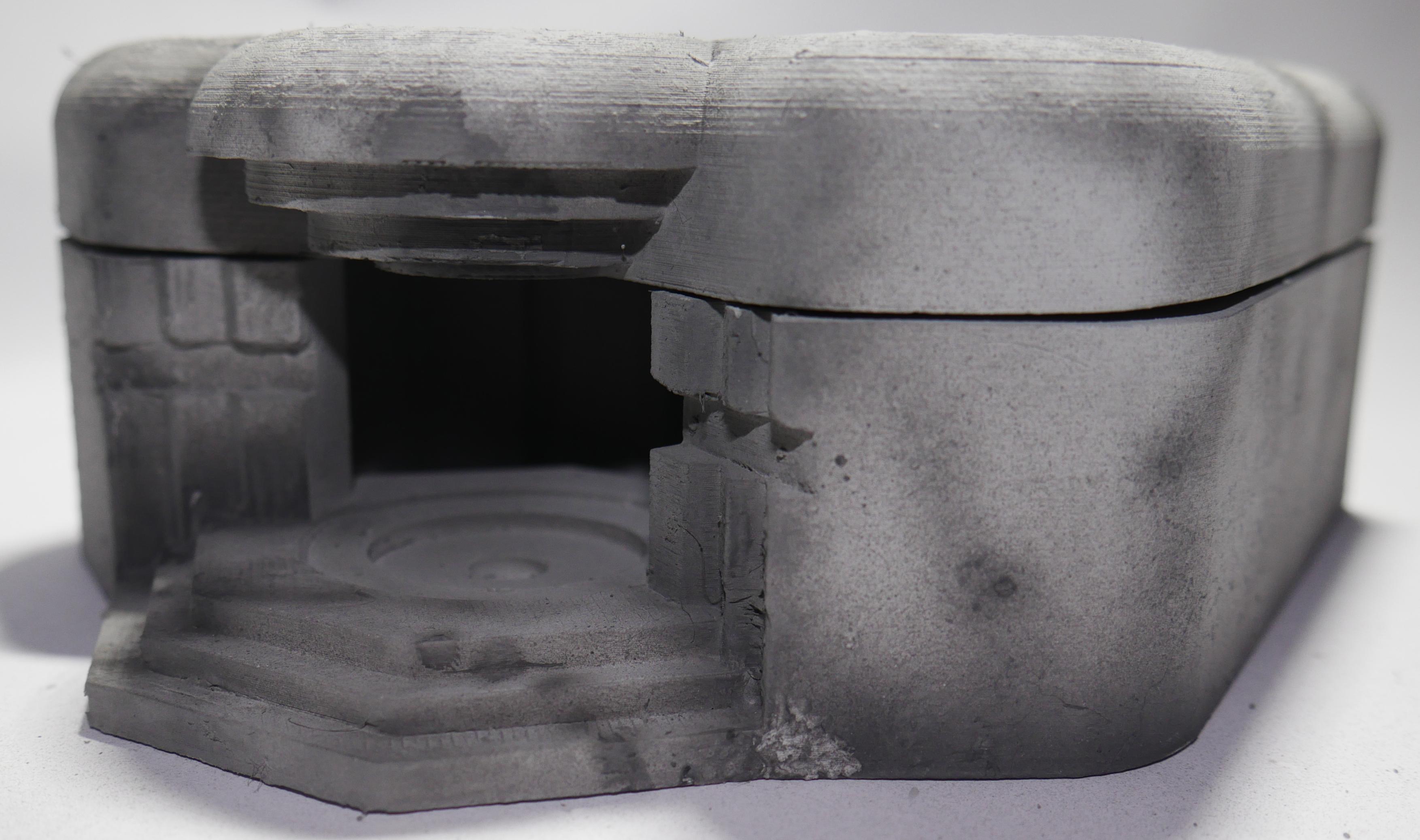 WWII German Normandy bunker Model Railway OO HO Gauge Scale 1:87, Regelbau M272